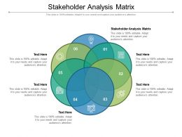 Stakeholder Analysis Matrix Ppt Powerpoint Presentation Summary Slide Cpb