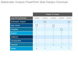 Stakeholder Analysis Powerpoint Slide Designs Download