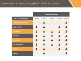 Stakeholder Analysis Powerpoint Slide Inspiration