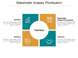 Stakeholder Analysis Prioritization Ppt Powerpoint Presentation Styles Picture Cpb