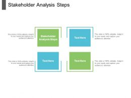 Stakeholder Analysis Steps Ppt Powerpoint Presentation Files Cpb