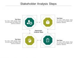 Stakeholder Analysis Steps Ppt Powerpoint Presentation Model Graphics Template Cpb