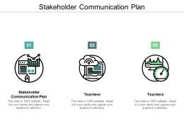 Stakeholder Communication Plan Ppt Powerpoint Presentation Gallery Shapes Cpb