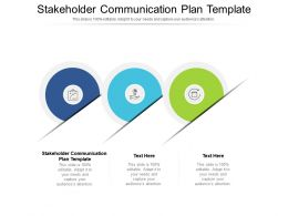 Stakeholder Communication Plan Template Ppt Powerpoint Presentation Styles Samples Cpb