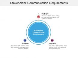 Stakeholder Communication Requirements Ppt Powerpoint Presentation Model Smartart Cpb