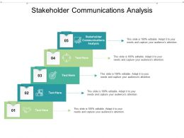 Stakeholder Communications Analysis Ppt Powerpoint Presentation Outline Example File Cpb