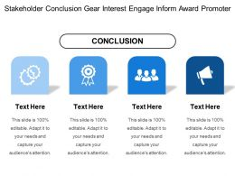 Stakeholder Conclusion Gear Interest Engage Inform Award Promoter