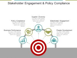Stakeholder Engagement And Policy Compliance Ppt Example File