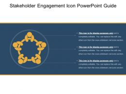 Stakeholder Engagement Icon Powerpoint Guide