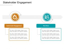 Stakeholder Engagement Ppt Powerpoint Presentation Layouts Professional Cpb