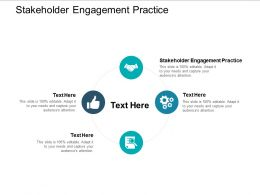 Stakeholder Engagement Practice Ppt Powerpoint Presentation Icon Format Ideas Cpb