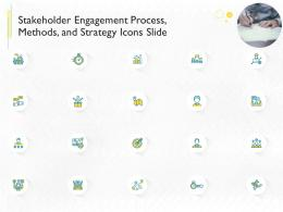 Stakeholder Engagement Process Methods And Strategy Icons Slide Ppt Slides Skills