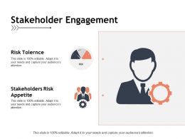 Stakeholder Engagement Risk Tolernce Ppt Powerpoint Presentation Pictures Graphics Template