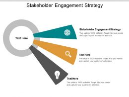 Stakeholder Engagement Strategy Ppt Powerpoint Presentation Visual Aids Diagrams Cpb