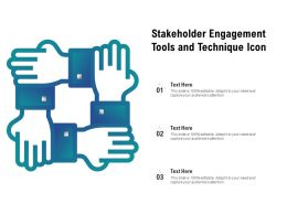 Stakeholder Engagement Tools And Technique Icon