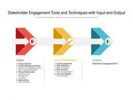 Stakeholder Engagement Tools And Techniques With Input And Output
