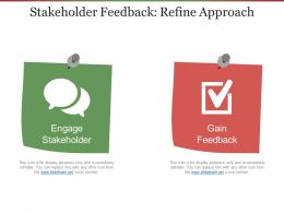 Stakeholder Feedback Refine Approach Presentation Portfolio