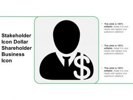 Stakeholder Icon Dollar Shareholder Business Icon