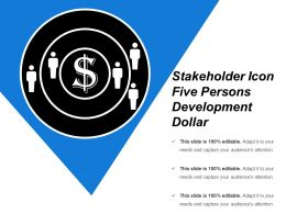 Stakeholder Icon Five Persons Development Dollar
