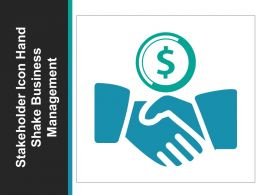 Stakeholder Icon Hand Shake Business Management