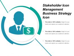 Stakeholder Icon Management Business Strategy Icon