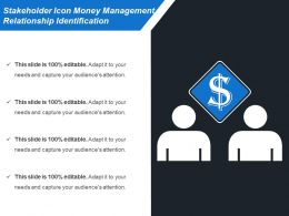 Stakeholder Icon Money Management Relationship Identification