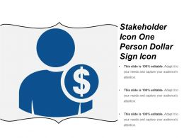 Stakeholder Icon One Person Dollar Sign Icon