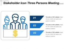 Stakeholder Icon Three Persons Meeting Shareholders Revenue