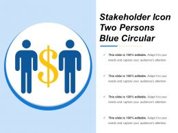 Stakeholder Icon Two Persons Blue Circular