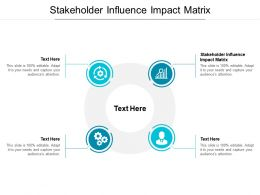 Stakeholder Influence Impact Matrix Ppt Powerpoint Presentation Pictures Slideshow Cpb