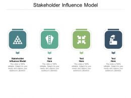 Stakeholder Influence Model Ppt Powerpoint Presentation Styles Layout Ideas Cpb