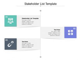 Stakeholder List Template Ppt Powerpoint Presentation Outline Example Introduction Cpb