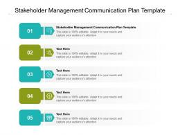 Stakeholder Management Communication Plan Template Ppt Powerpoint Presentation Outline Rules Cpb