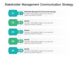 Stakeholder Management Communication Strategy Ppt Powerpoint Presentation Show Cpb