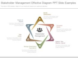 Stakeholder Management Effective Diagram Ppt Slide Examples