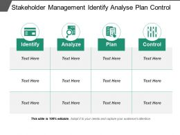 Stakeholder Management Identify Analyse Plan Control