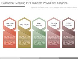 Stakeholder Mapping Ppt Template Powerpoint Graphics