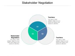 Stakeholder Negotiation Ppt Powerpoint Presentation Slides Templates Cpb