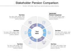 Stakeholder Pension Comparison Ppt Powerpoint Presentation Slides Graphic Images Cpb