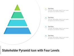 Stakeholder Pyramid Icon With Four Levels