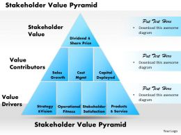 Stakeholder Value Pyramid Powerpoint Presentation Slide Template