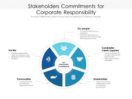 Stakeholders Commitments For Corporate Responsibility