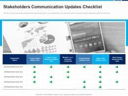 Stakeholders Communication Updates Checklist Organizational Requirements Ppt Layout Ideas