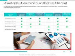 Stakeholders Communication Updates Checklist Project Engagement Management Process Ppt Download