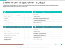 Stakeholders Engagement Budget Project Engagement Management Process Ppt Ideas