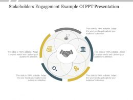 Stakeholders Engagement Example Of PPT Presentation