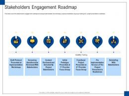 Stakeholders Engagement Roadmap Engagement Management Ppt Graphics