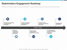 Stakeholders Engagement Roadmap Project Protocol Ppt Ppt