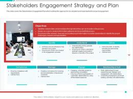 Stakeholders Engagement Strategy And Plan Project Engagement Management Process Ppt Template