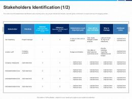 Stakeholders Identification Goal Goal Interest Ppt Graphic Images